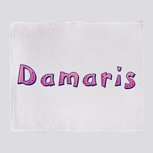 Damaris Pink Giraffe Throw Blanket